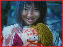 One of any number of disturbing images from Battle Royale!