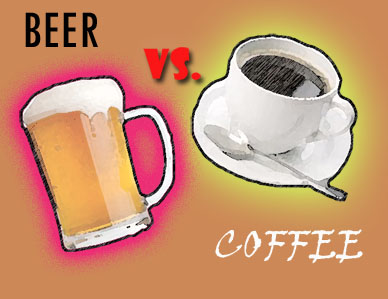 Image result for beer vs coffee